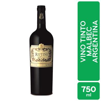 Vino Tinto Argentina Malbec Rutini Botella 750 Ml