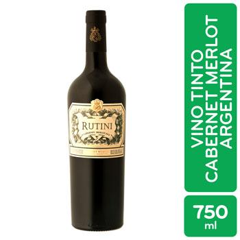 Vino Tinto Argentina Merlot Rutini Botella 750 Ml
