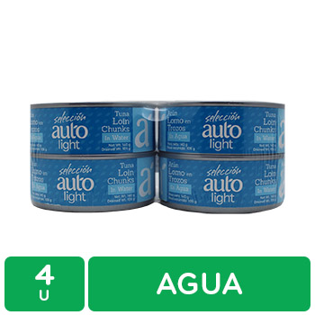 Atun Lomo Trozos Agua 4u Seleccion Auto Paquete 560 G