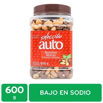 Semillas Mixtas Tostadas Seleccion Auto Frasco 600 G